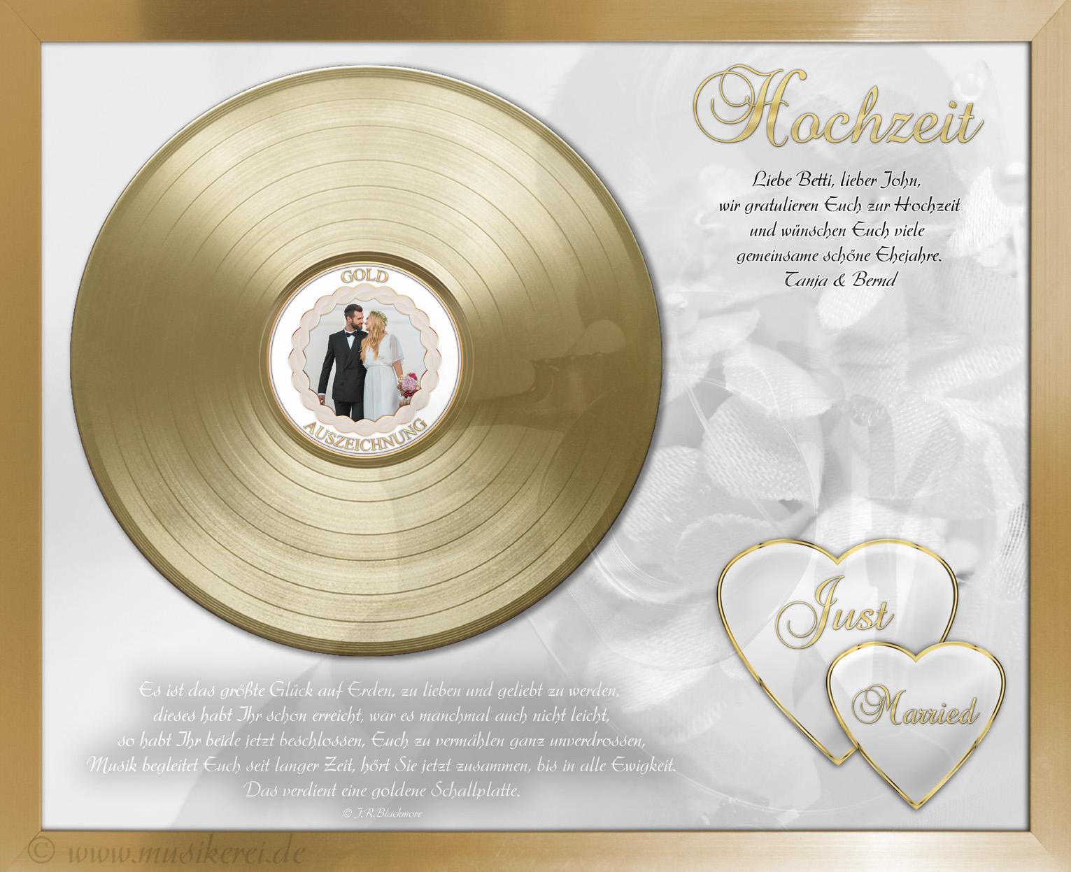 Musikerei Goldene Oder Silberne Schallplatte Für Die Hochzeit
