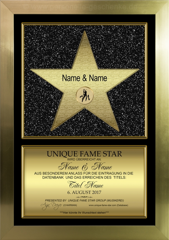 STAR (Gold) - Unique Fame Star