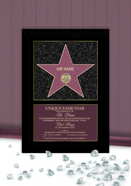 STAR (Original Farben) - Unique Fame Star