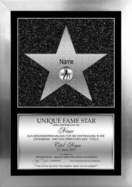 STAR (Silber) - Unique Fame Star